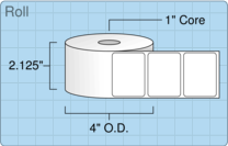 """Roll of 2"""" x 1.5""""  Thermal  labels"""