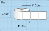 """Roll of 2"""" x 2""""  Thermal  labels"""