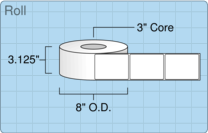 """Roll of 3"""" x 4""""  Thermal  labels"""
