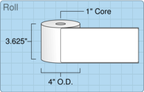 """Roll of 3.5"""" x 8""""  Thermal  labels"""