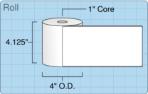 """Roll of 4"""" x 8""""  Thermal  labels"""