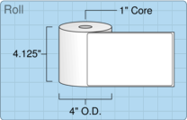"""Roll of 4"""" x 6.5""""  Thermal  labels"""