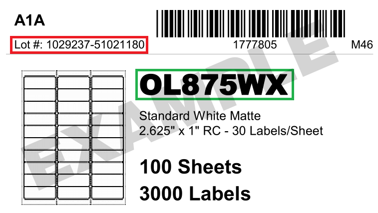 Clamshell label example